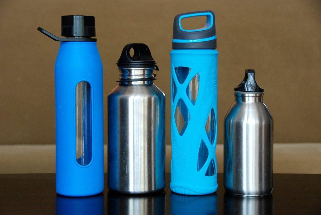 bottles, water, steel