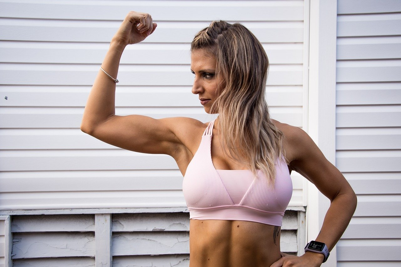 fit, strong, female