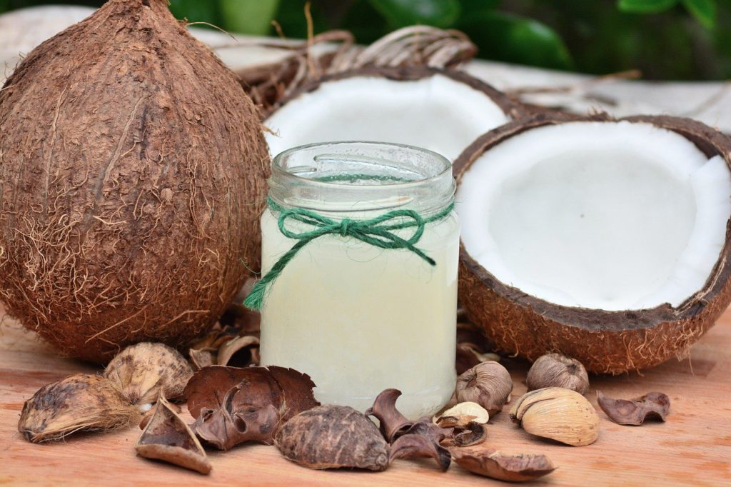 food, coconut, fruit